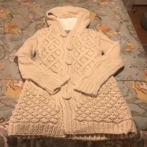 MM Couture Hooded Cable Knit Sweater